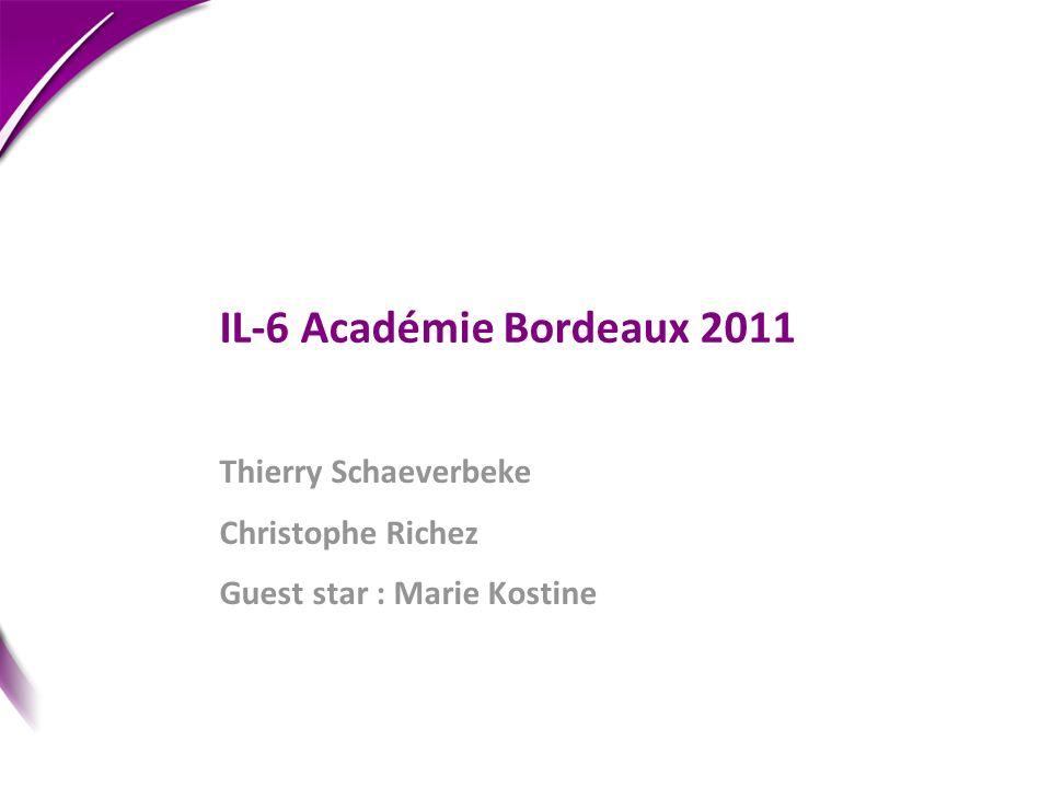Thierry Schaeverbeke Christophe Richez Guest star : Marie Kostine