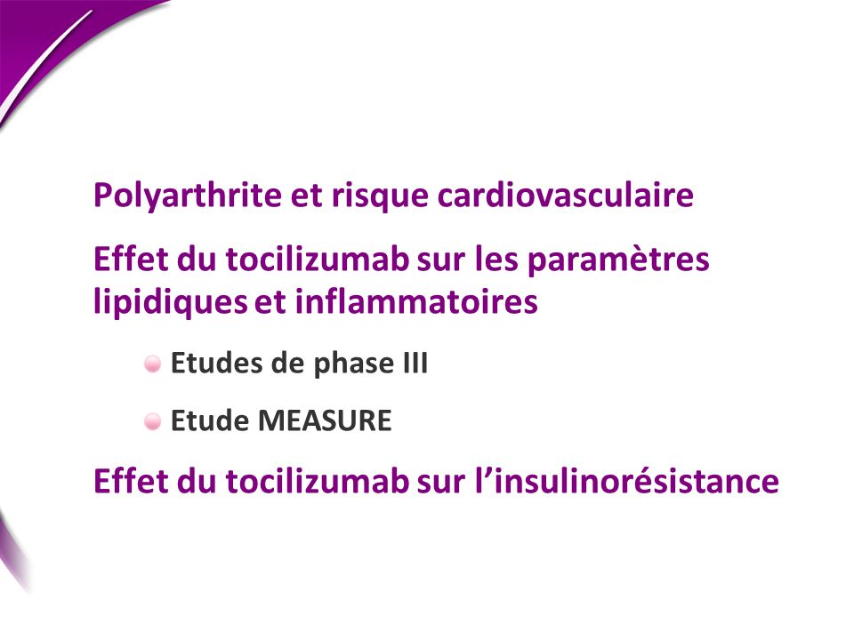 Polyarthrite et risque cardiovasculaire