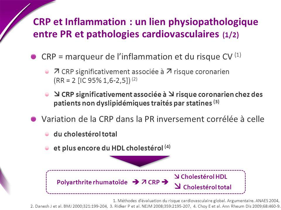 Polyarthrite rhumatoïde   CRP 