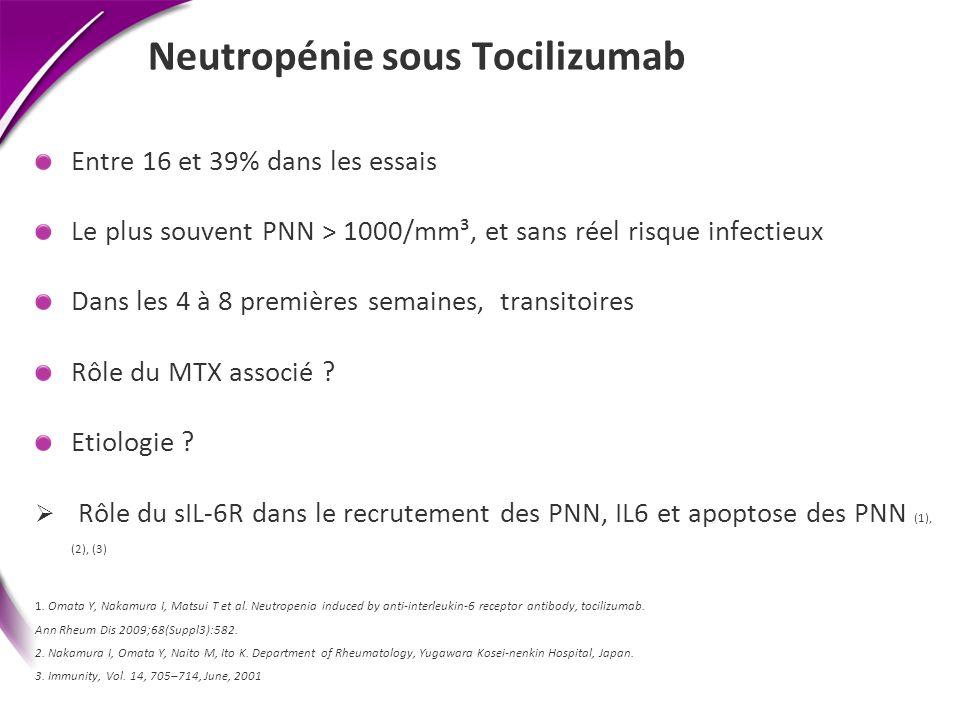 Neutropénie sous Tocilizumab