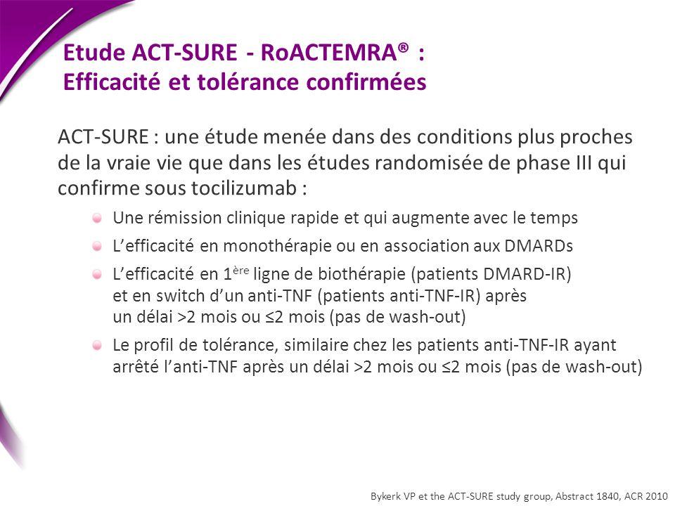 Etude ACT-SURE - RoACTEMRA® : Efficacité et tolérance confirmées