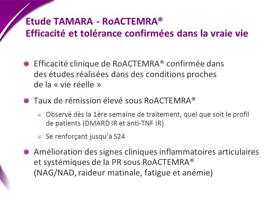 Etude TAMARA - RoACTEMRA® Efficacité et tolérance confirmées dans la vraie vie