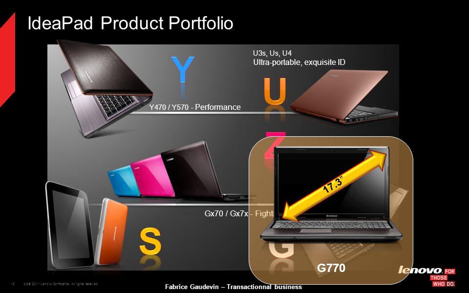IdeaPad Product Portfolio