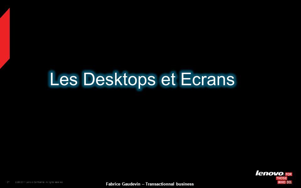 Les Desktops et Ecrans