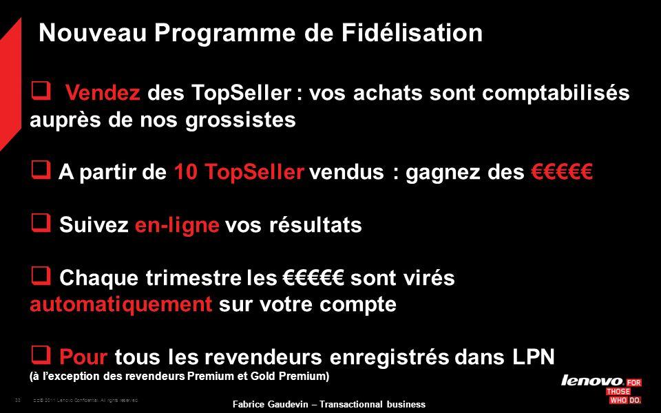 Nouveau Programme de Fidélisation