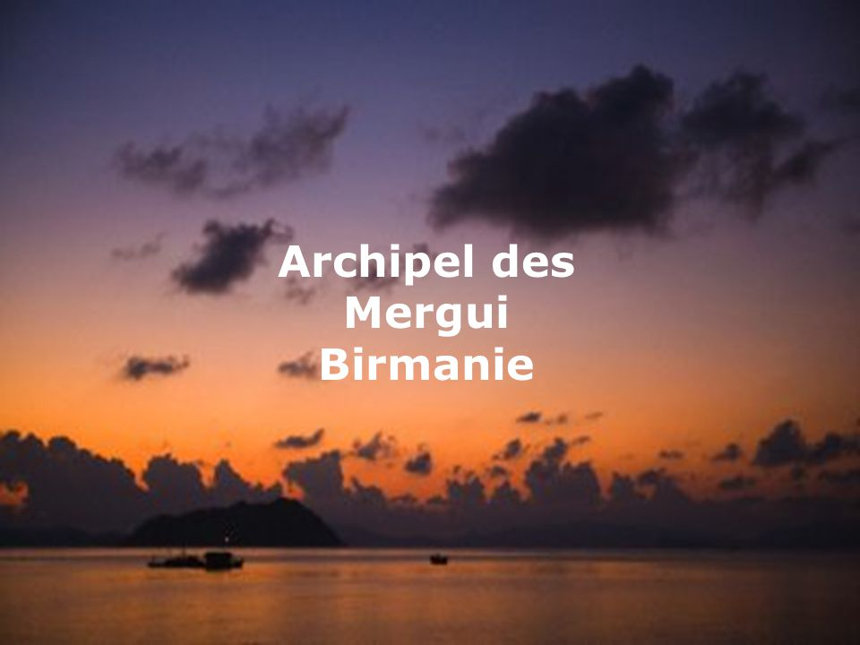 Archipel des Mergui Birmanie