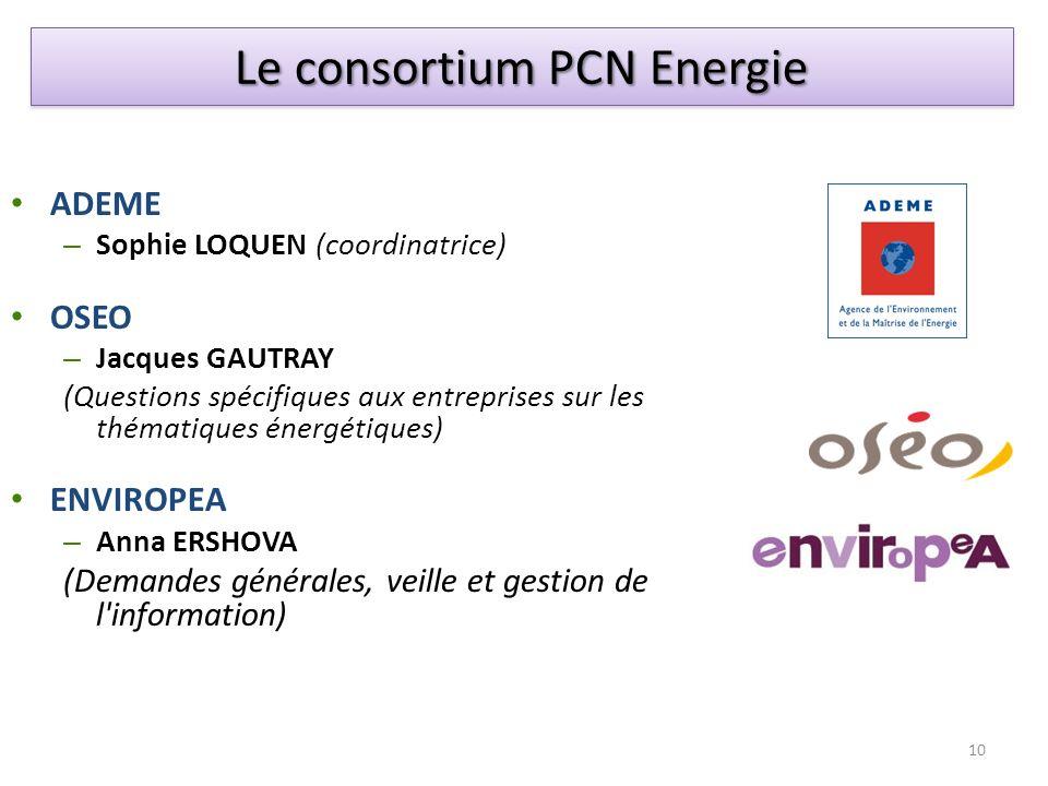 Le consortium PCN Energie