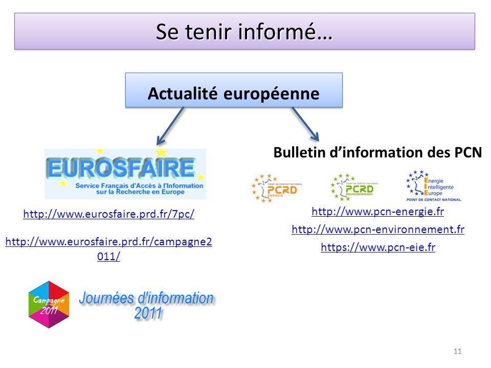 Bulletin d'information des PCN