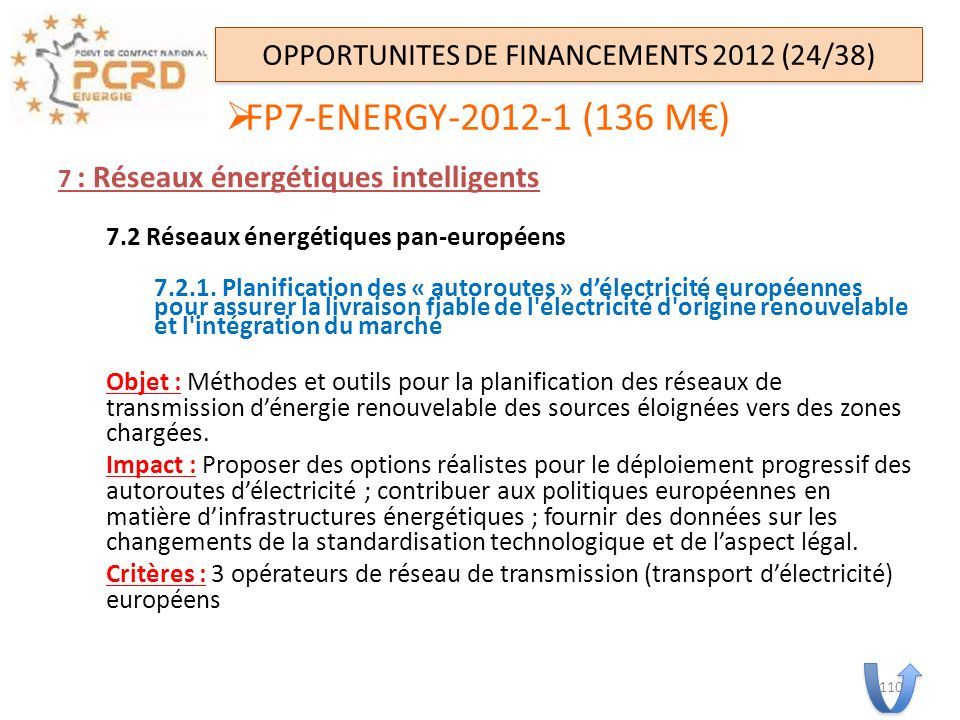 OPPORTUNITES DE FINANCEMENTS 2012 (24/38)
