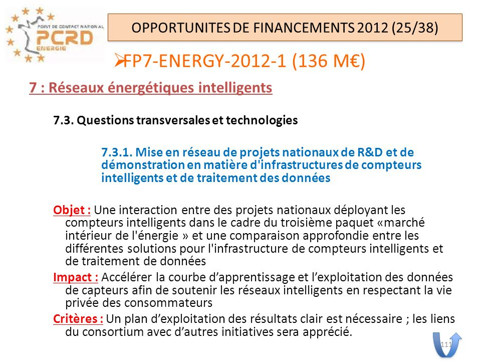 OPPORTUNITES DE FINANCEMENTS 2012 (25/38)