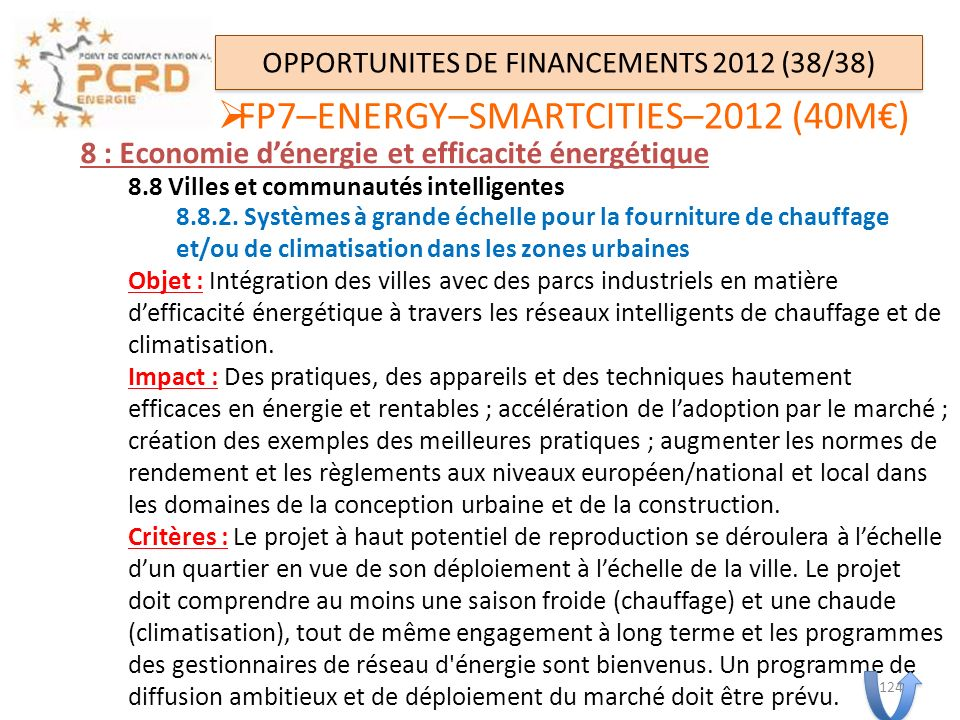 OPPORTUNITES DE FINANCEMENTS 2012 (38/38)