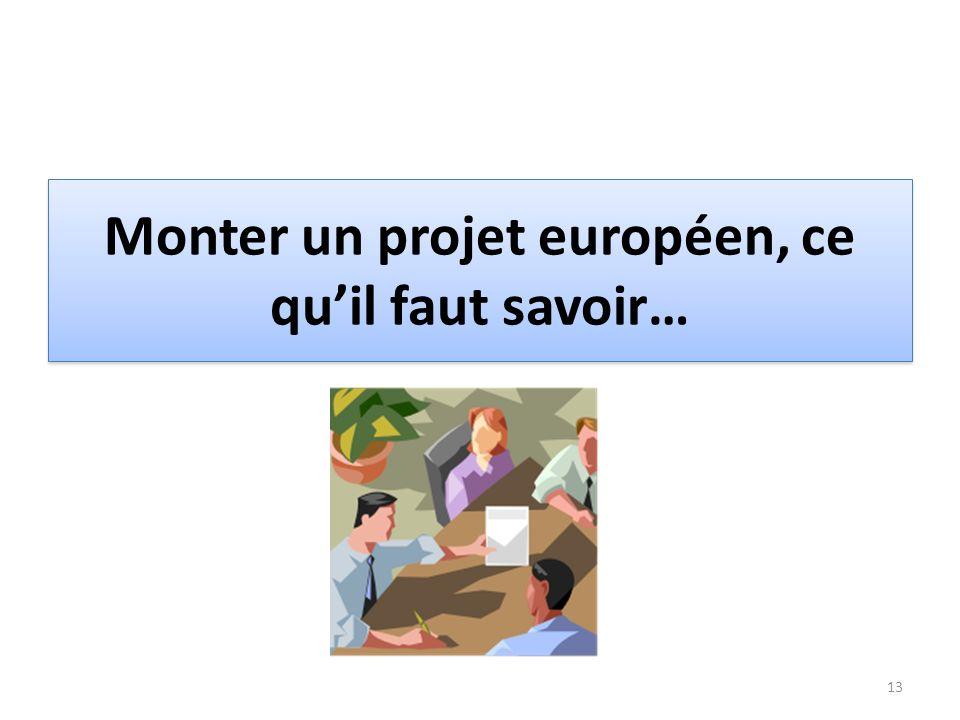 Monter un projet européen, ce qu'il faut savoir…
