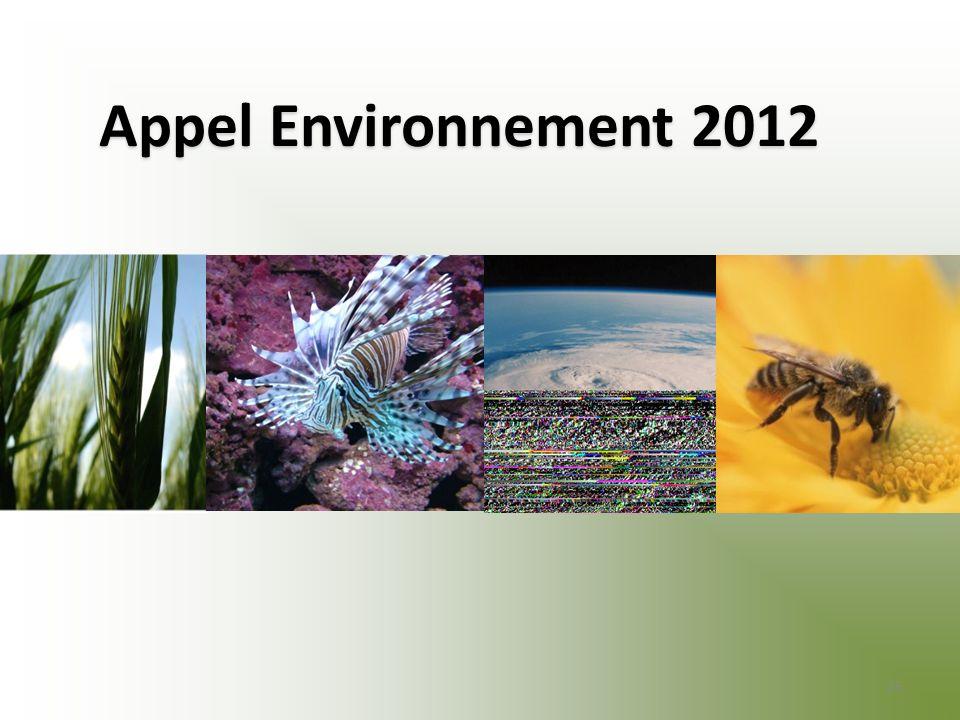 Appel Environnement 2012