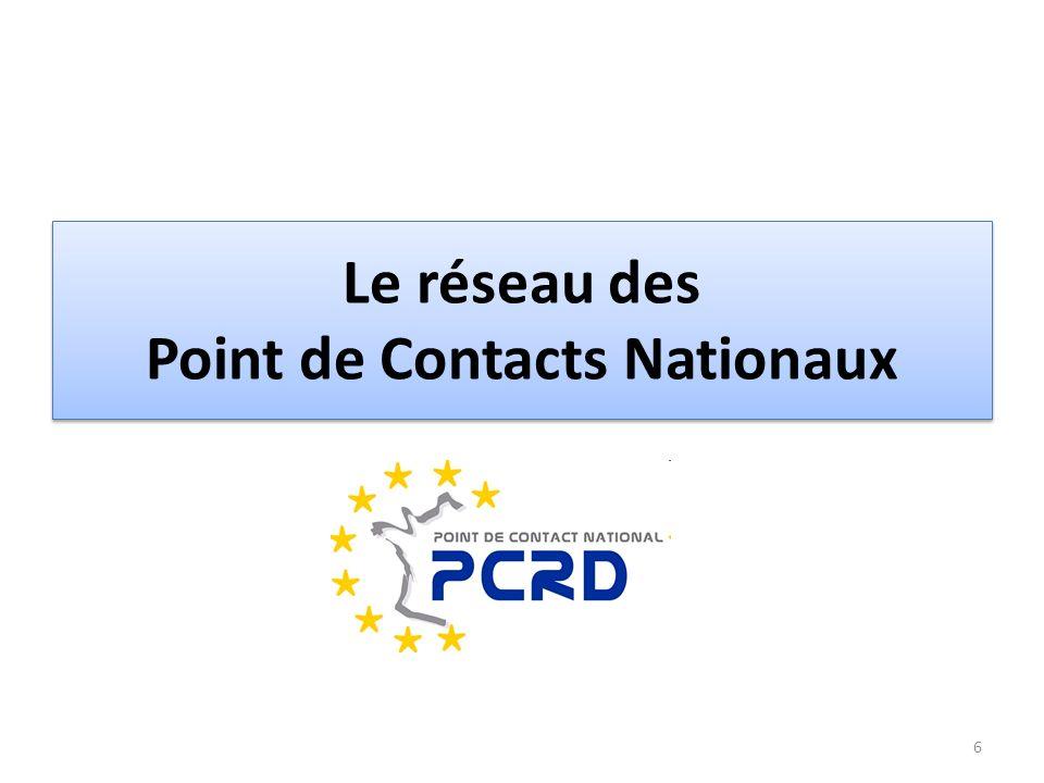 Le réseau des Point de Contacts Nationaux