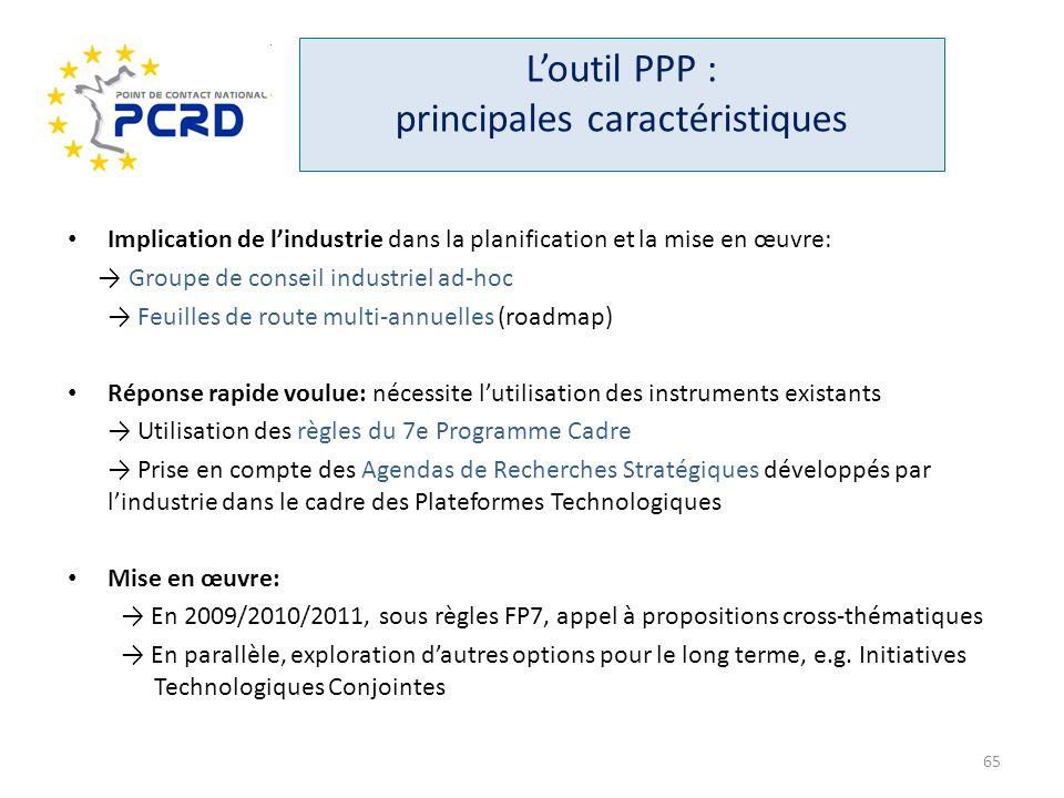 L'outil PPP : principales caractéristiques