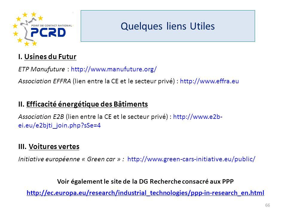 Voir également le site de la DG Recherche consacré aux PPP