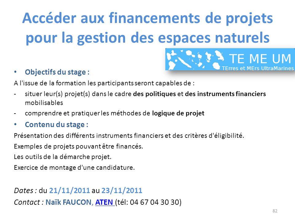 Accéder aux financements de projets pour la gestion des espaces naturels