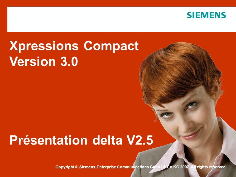 Xpressions Compact Version 3.0 Présentation delta V2.5