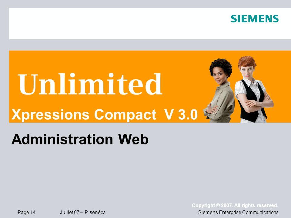Xpressions Compact V 3.0 Administration Web