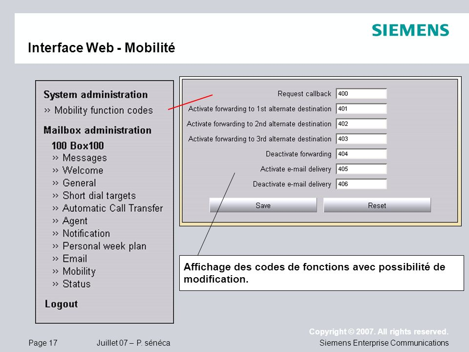 Interface Web - Mobilité