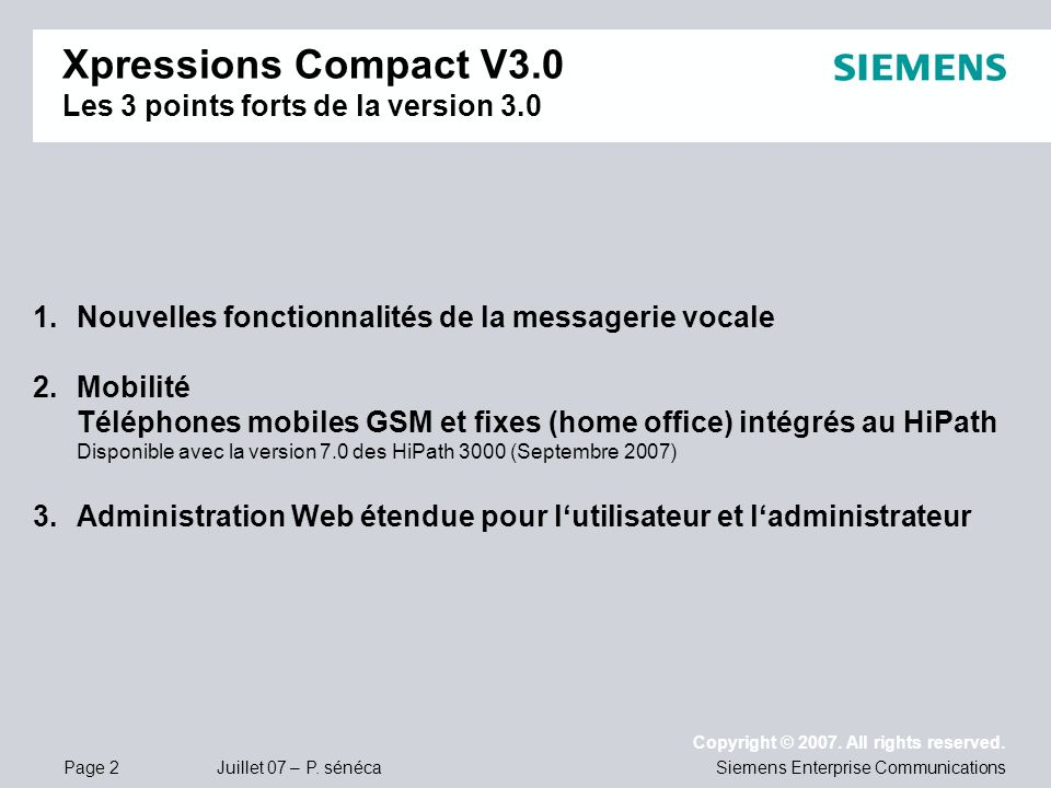 Xpressions Compact V3.0 Les 3 points forts de la version 3.0