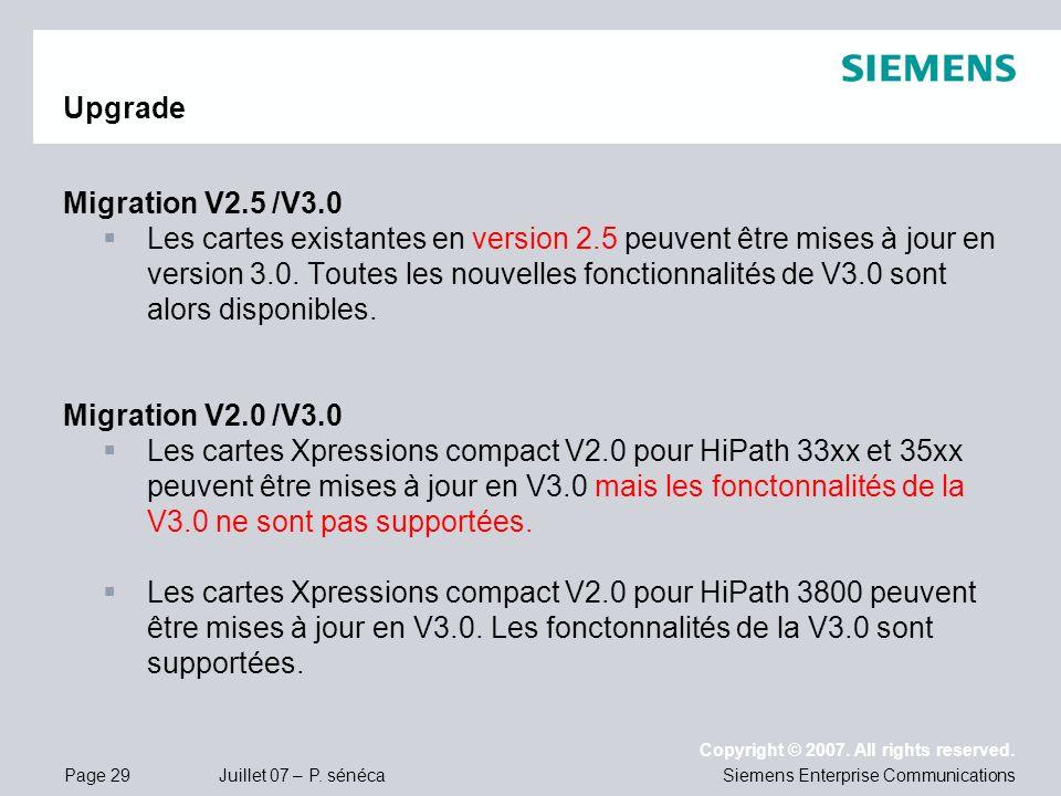 UpgradeMigration V2.5 /V3.0.