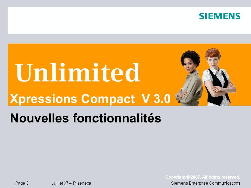 Xpressions Compact V 3.0 Nouvelles fonctionnalités