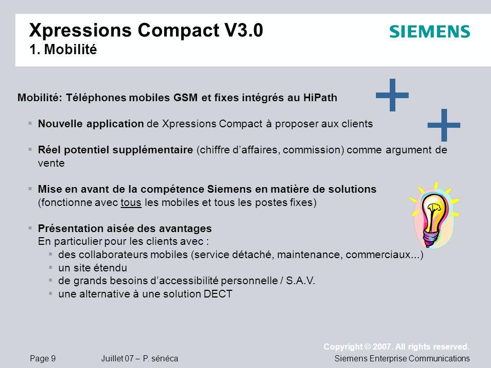 Xpressions Compact V3.0 1. Mobilité
