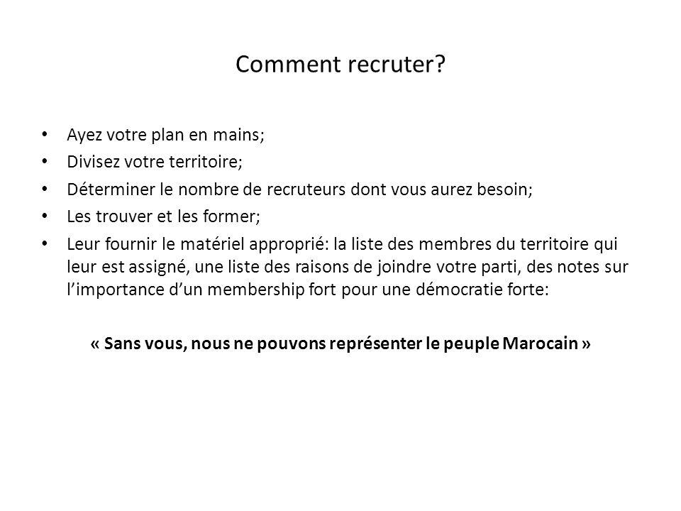 « Sans vous, nous ne pouvons représenter le peuple Marocain »