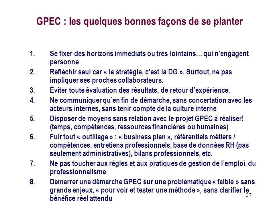 GPEC : les quelques bonnes façons de se planter