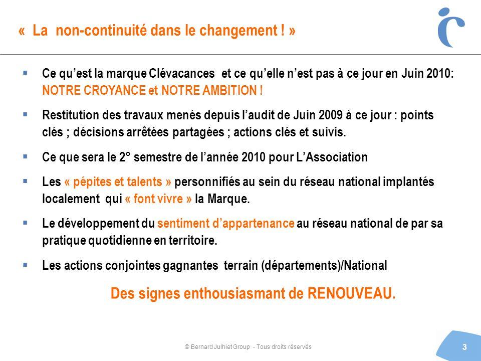 « La non-continuité dans le changement ! »