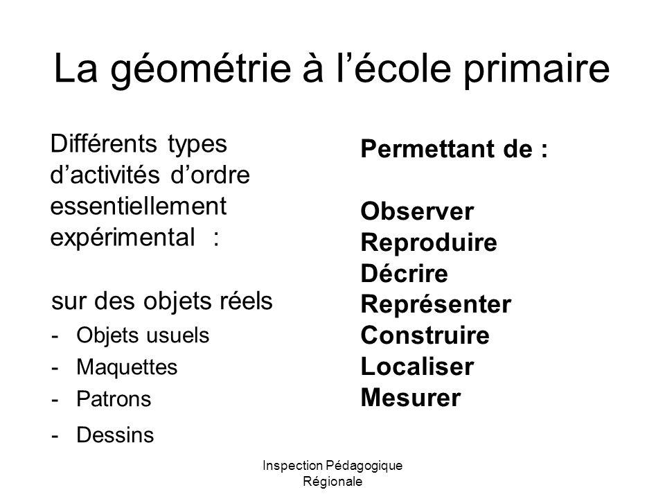 La géométrie à l'école primaire