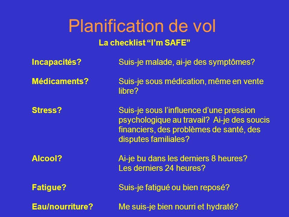 La checklist I'm SAFE