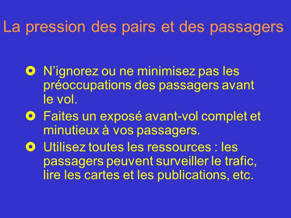 La pression des pairs et des passagers