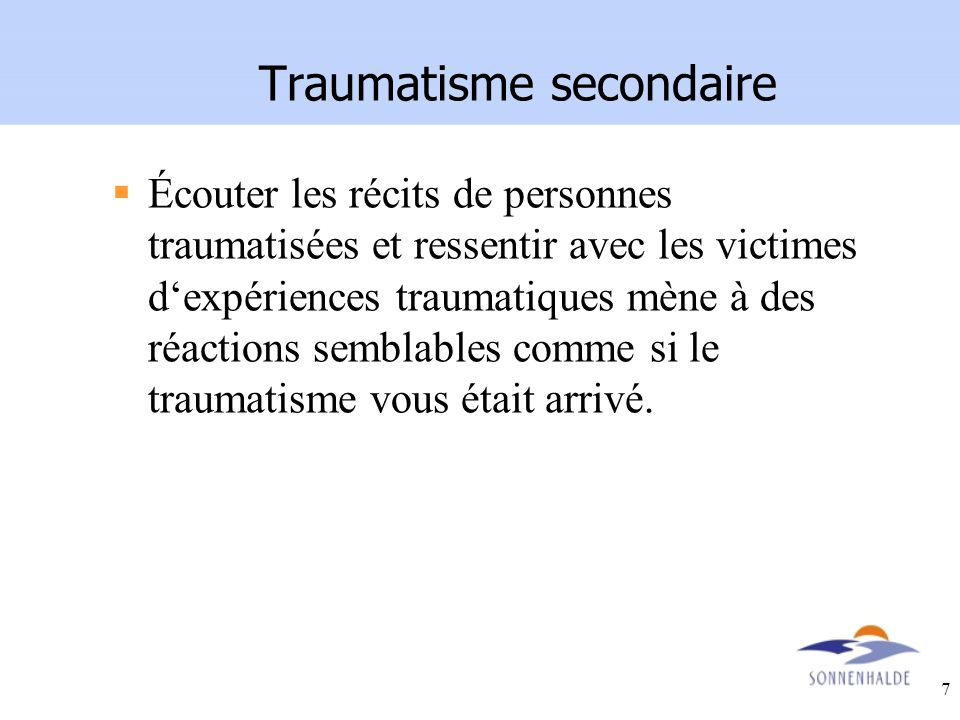 Traumatisme secondaire