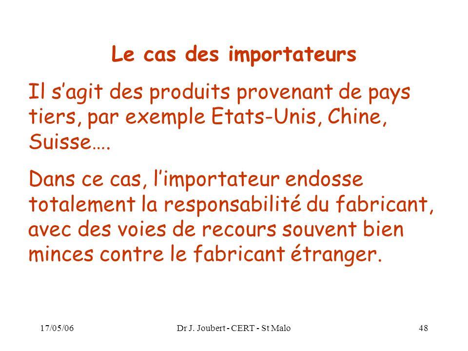 Le cas des importateurs