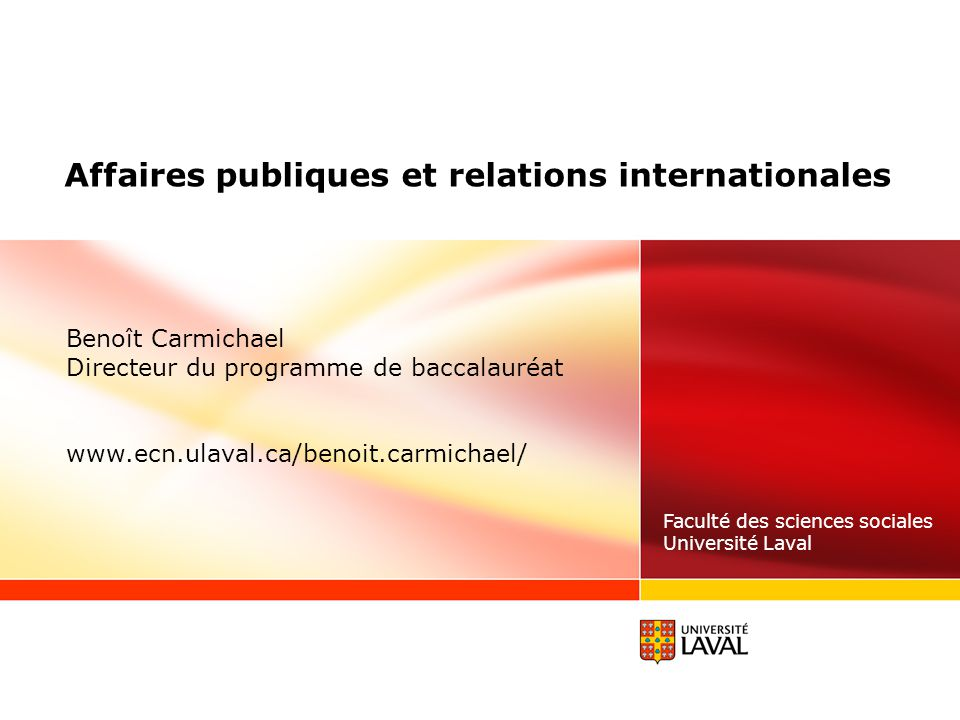 Affaires publiques et relations internationales