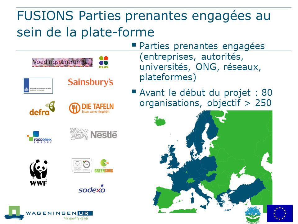 FUSIONS Parties prenantes engagées au sein de la plate-forme