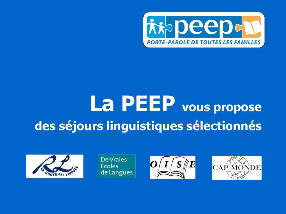 La PEEP vous propose des séjours linguistiques sélectionnés