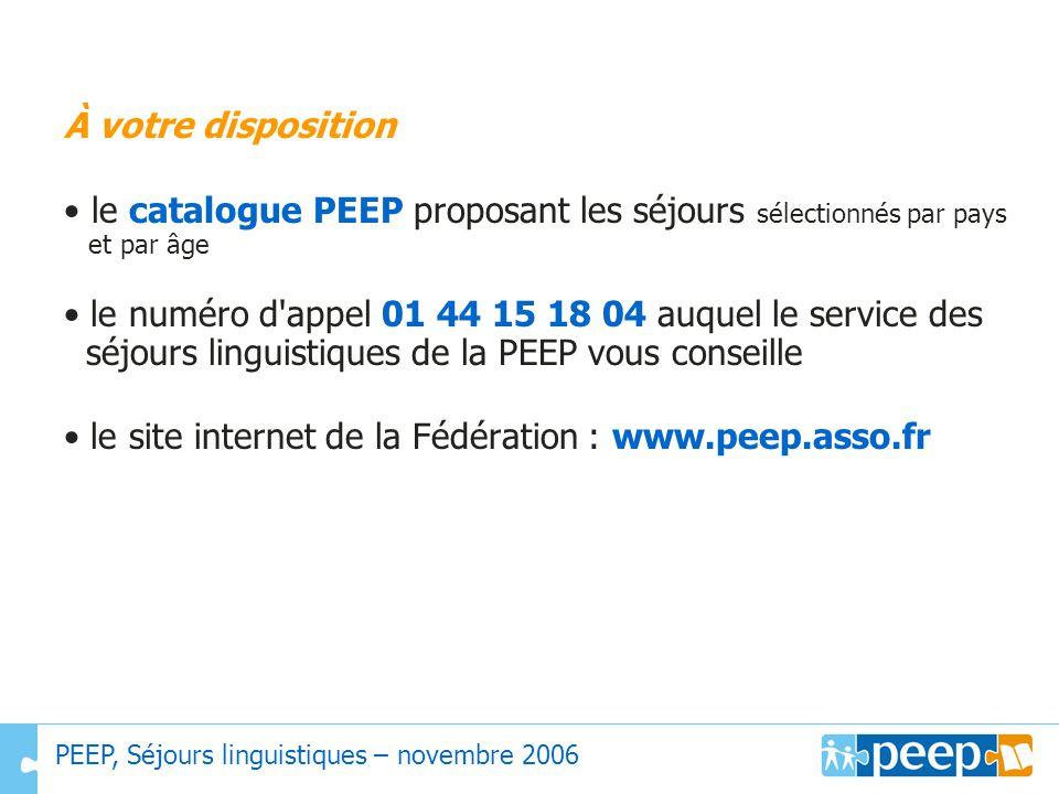 • le site internet de la Fédération : www.peep.asso.fr