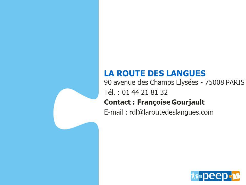 LA ROUTE DES LANGUES 90 avenue des Champs Elysées - 75008 PARIS