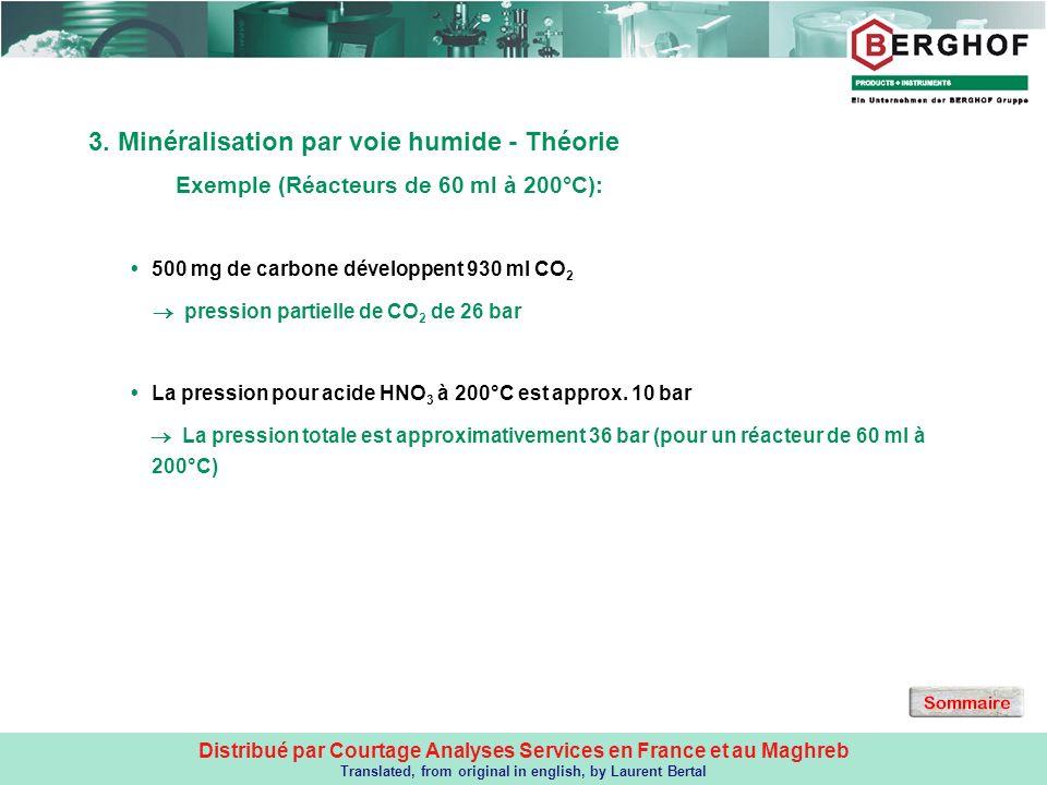 3. Minéralisation par voie humide - Théorie