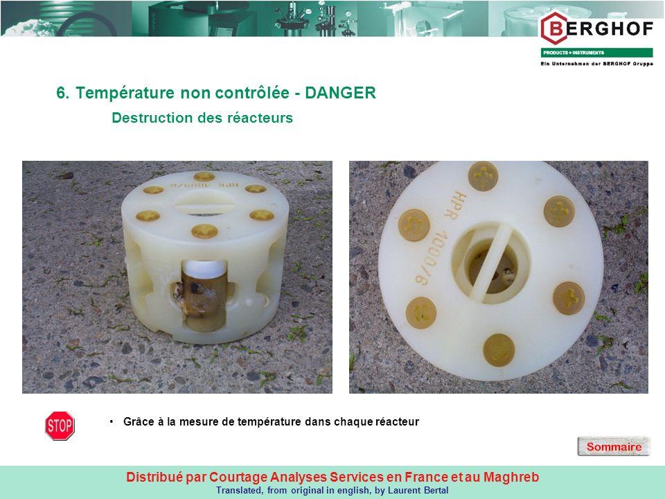 6. Température non contrôlée - DANGER