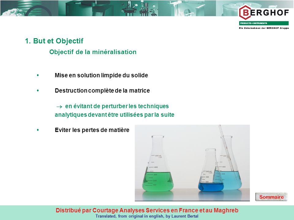 Objectif de la minéralisation