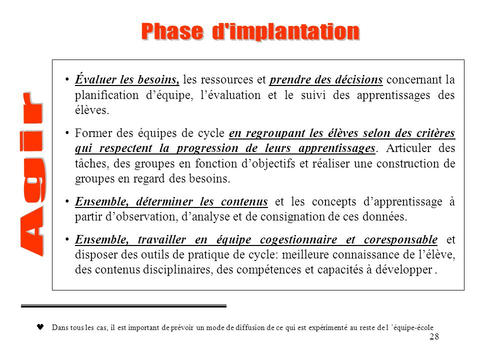 Phase d implantation