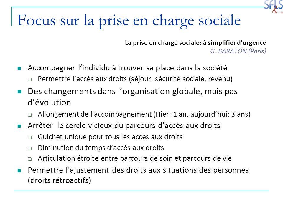 Focus sur la prise en charge sociale