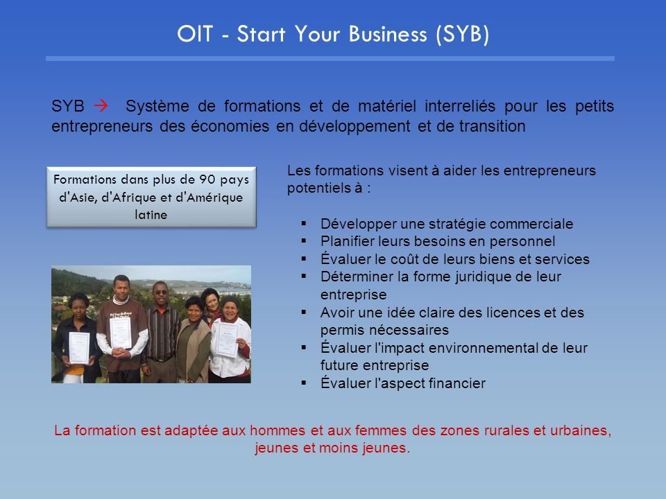 OIT - Start Your Business (SYB)