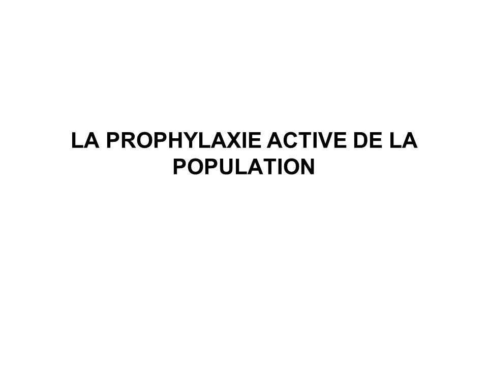 LA PROPHYLAXIE ACTIVE DE LA POPULATION