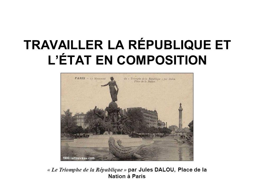 TRAVAILLER LA RÉPUBLIQUE ET L'ÉTAT EN COMPOSITION