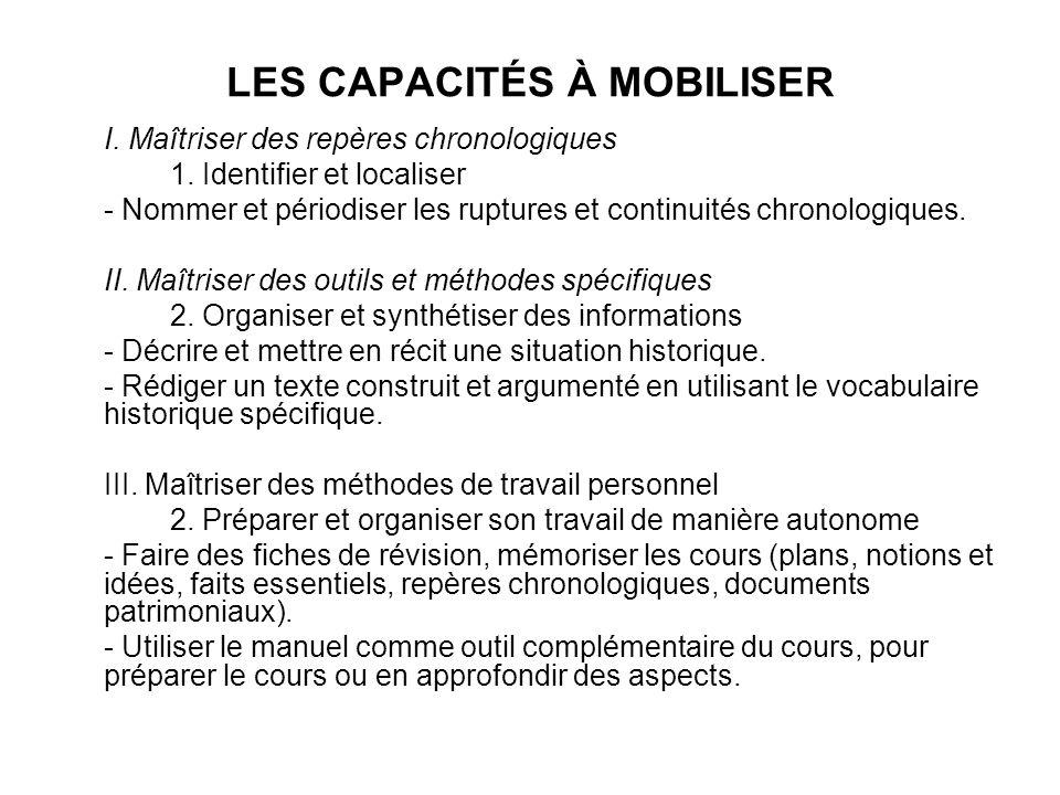 LES CAPACITÉS À MOBILISER